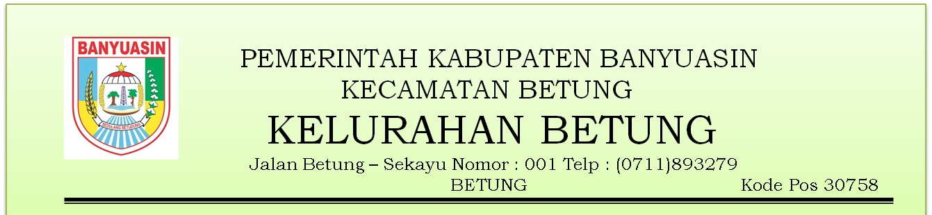 Website Kelurahan Betung Kecamatan Betung Kabupaten Banyuasin